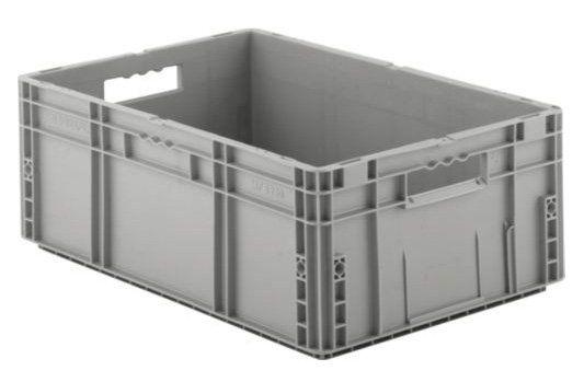 Graue Eurobox aus Kunststoff