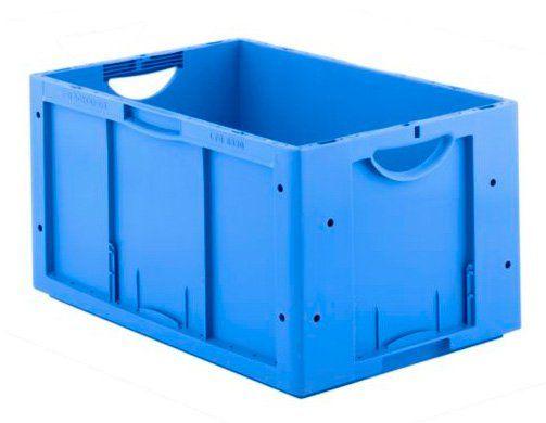 Eurobox aus blauem Polypropylen