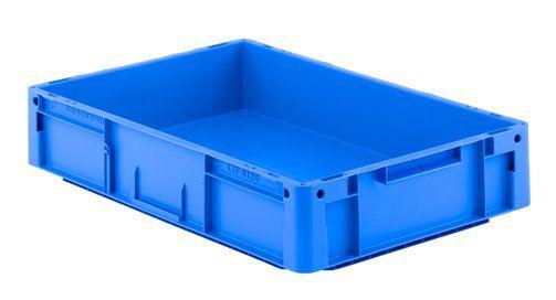 Lager-Transport-Fix-Behälter aus blauem Polypropylen