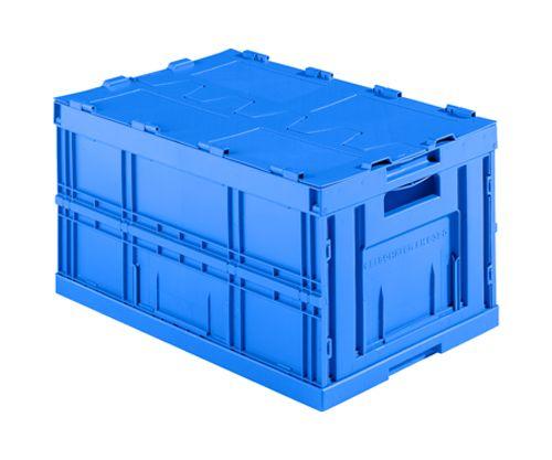 Faltbox im Euro-Mass aus blauemKunststoff