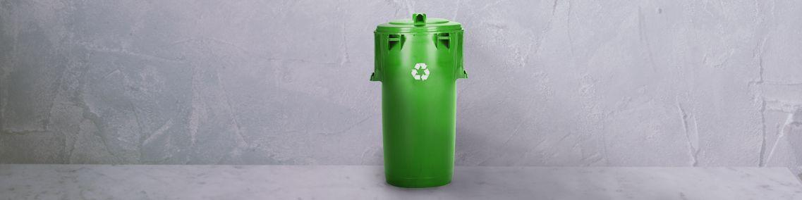 ecycling-Tonne zur umweltfreundlichen Entsorgung
