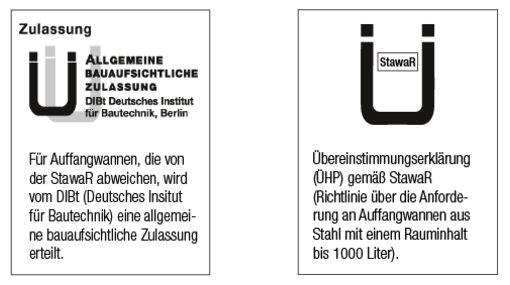 Logo Zulassung nach dem Deutschen Institut für Bautechnik (DIBt)