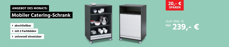 Mobiler Catering-Schrank mit Rollladen