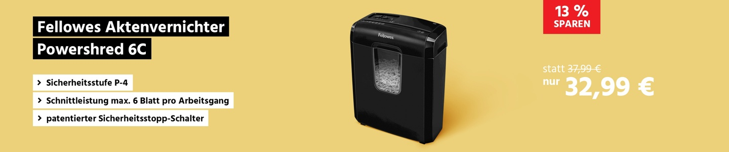 Fellowes Aktenvernichter Powershred 6C