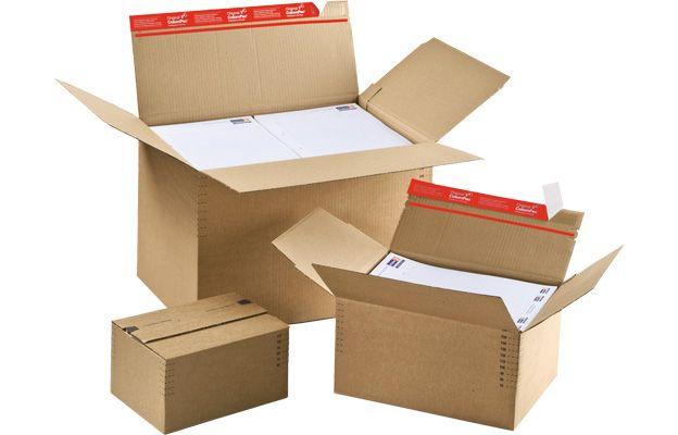 Drei Kartons in verschiedenen Größen