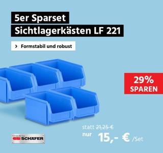 5-er Spartset Sichtlagerkästen SSI Schäfer LF221