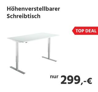 Schreibtisch, elektrisch höhenverstellbar