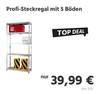 Profi-Steckregal mit 5 Böden