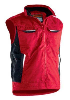Bundweste Jobman 7507 PRACTICAL, PSA-Kategorie 1, rot, Polyester I Baumwolle