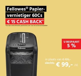 Fellowes® Papiervernietiger 60Cs, snippers