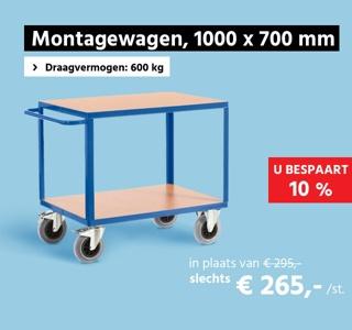 Montagewagen, L 1000 x B 700 mm