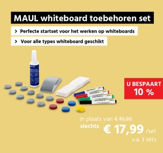 Whiteboard accessoireset MAUL standaard