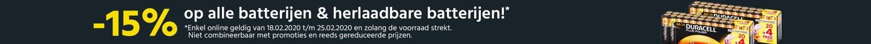 15% op alle batterijen